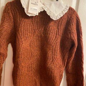Knit Bib Collar Sweater